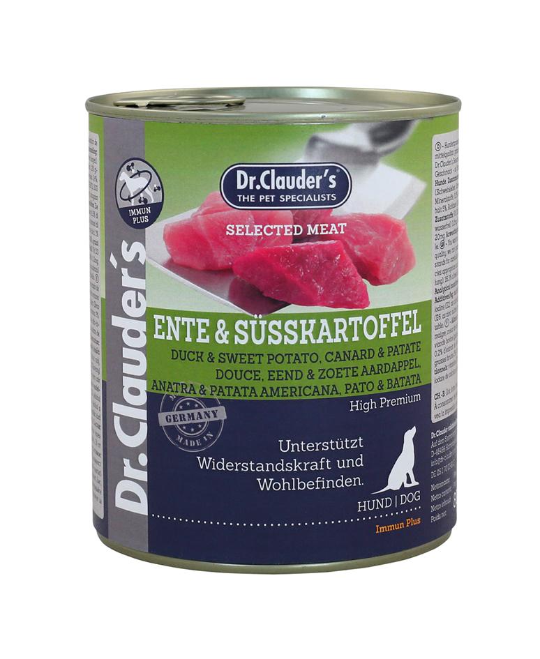 Selected Meat Canard 800g Viande pure pour Chien - Dr Clauder's