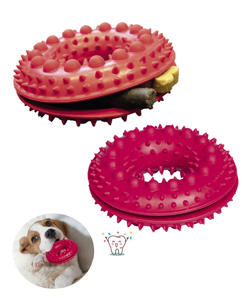 Jouet Chien à Macher Rubber Snackring with Spikes 10,5 cm - Nobby
