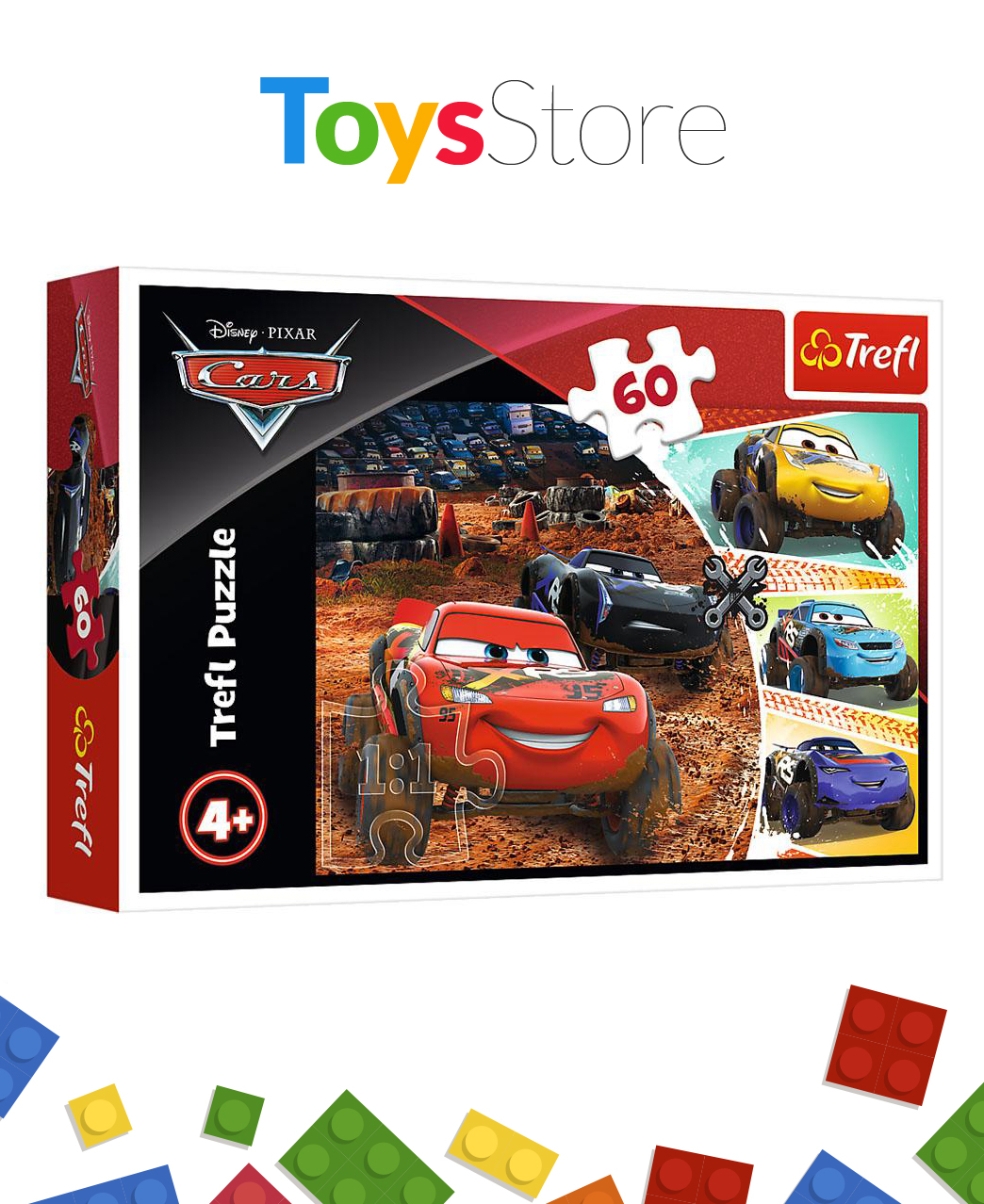 Puzzle 60 Pièces pour enfants +4 ans - Lightning Queen And Friends Disney Cars 3