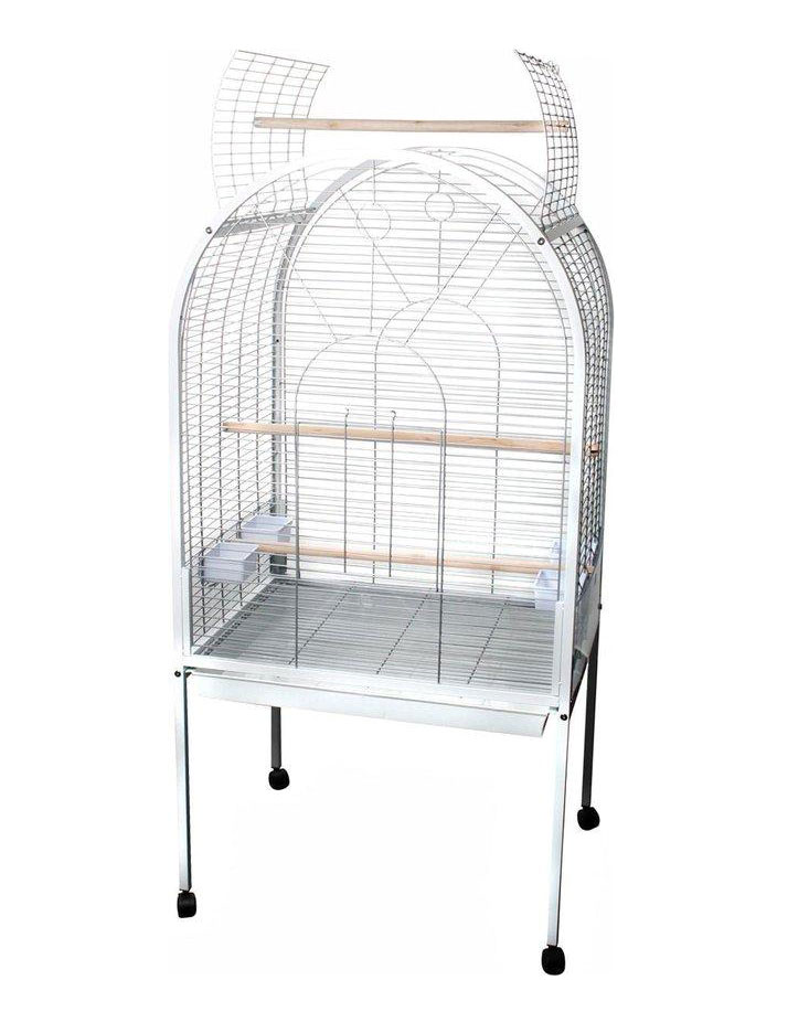 Cage polly blanc pour perroquet - Flamingo