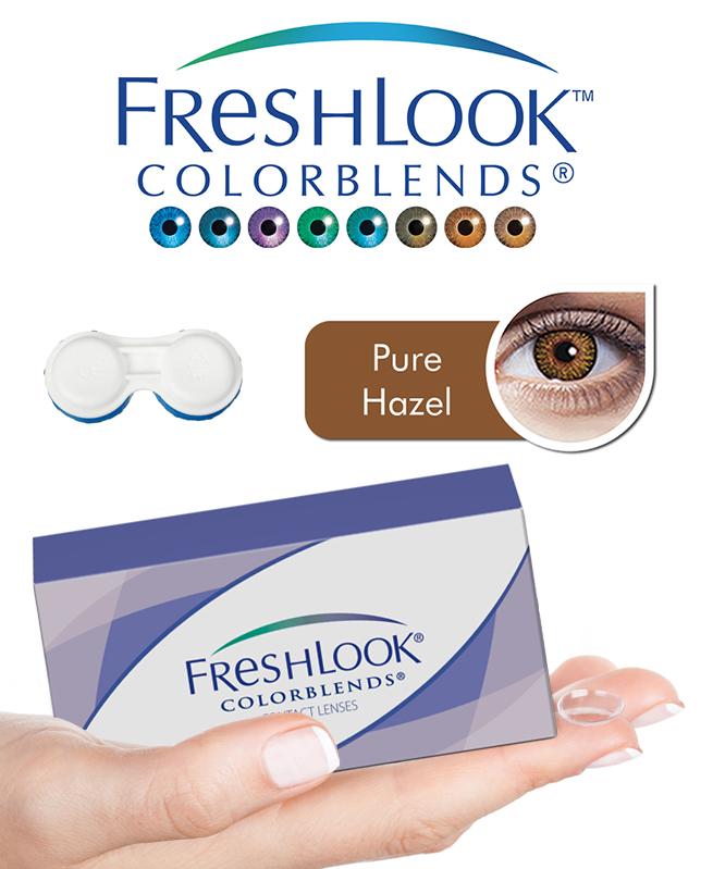 Pack Freshlook Colorblends (avec corrections) - Pure Hazel + Aqua Lens 120ml