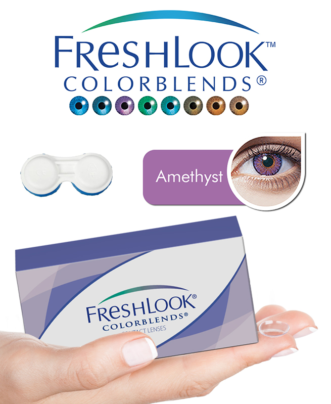 Pack Freshlook Colorblends (avec corrections) - Amethyst + Aqua Lens 120ml