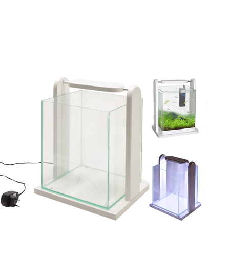 Aquarium Complet Led Design blanc de Vadigran