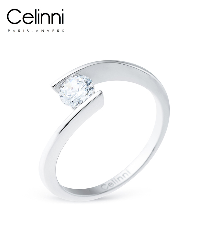 Bague Solitaire Diamant ETERNAL Or Blanc 0.50 Carat
