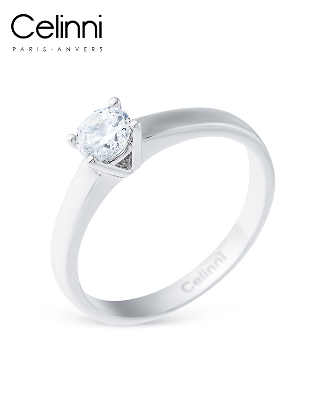 Bague Solitaire Diamant YLANA Or Blanc 0.50 Carat