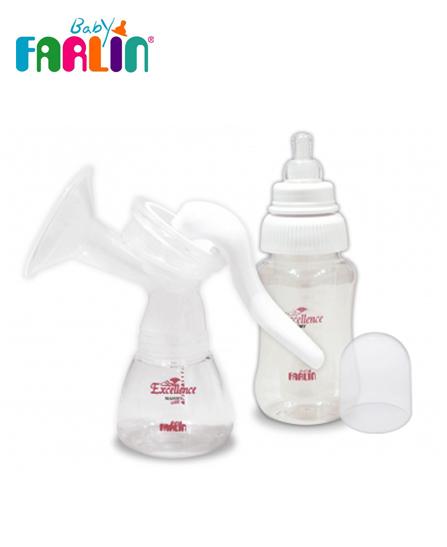 Farlin Tire lait 2 biberons inclus avec un pot de conservation du lait