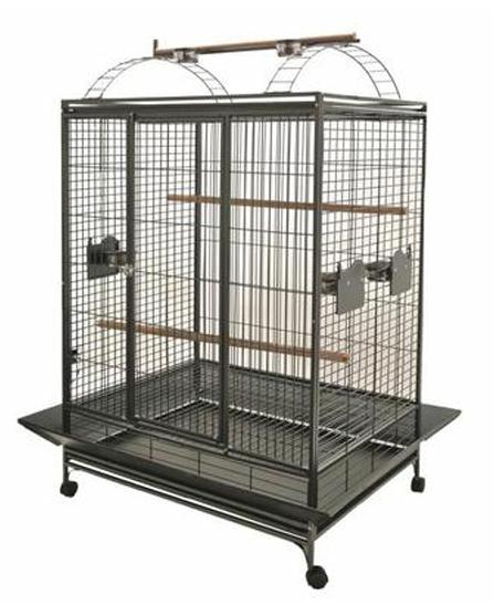 Cage Double pour Perroquets Evita 3 Gris Martelé de Vadigran