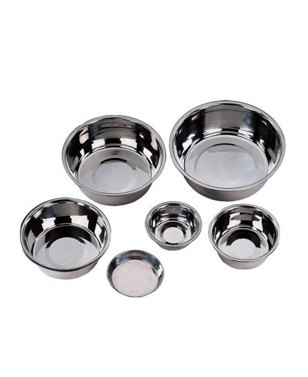 Gamelle Inox Plat 0,2 L - 12,5 cm pour chien