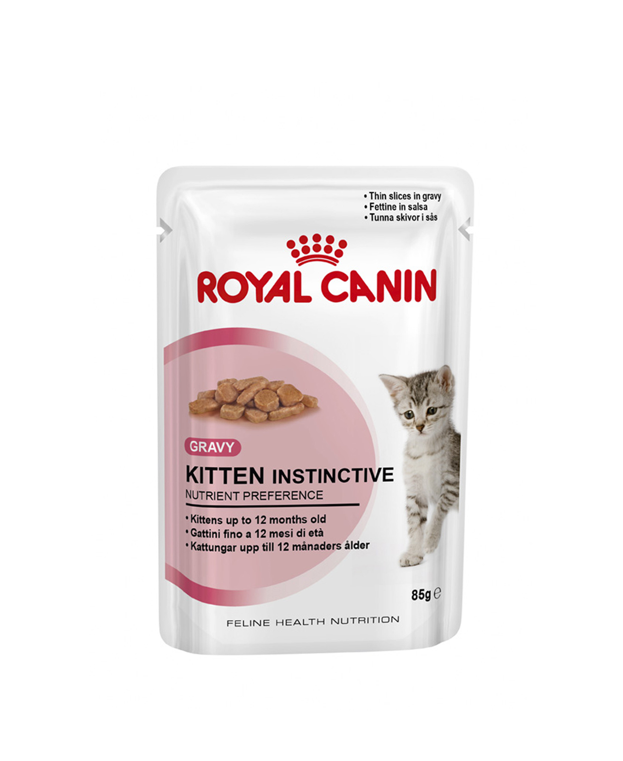 Bouchées en Sauce Royal Canin Kitten Instinctive 12x85g pour chatons
