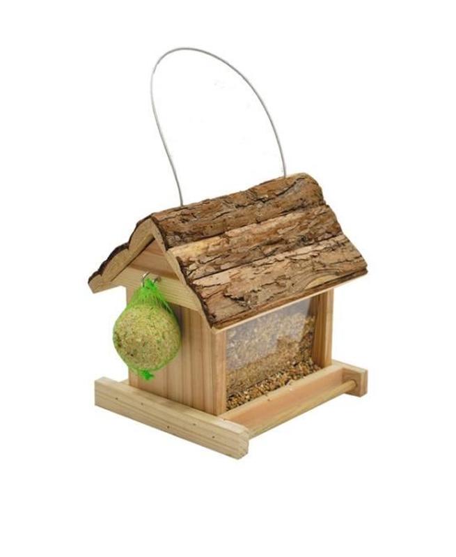 Mangeoire Suspendu Lidia Toit écorce pour Oiseau de Vadigran