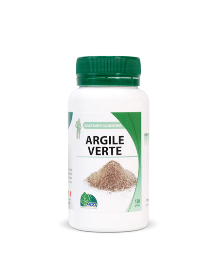 Mgd nature Argil Verte - 120 gélules