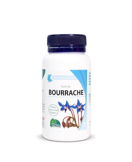 Mgd nature Bourrache Huile BIO - 100 Capsules