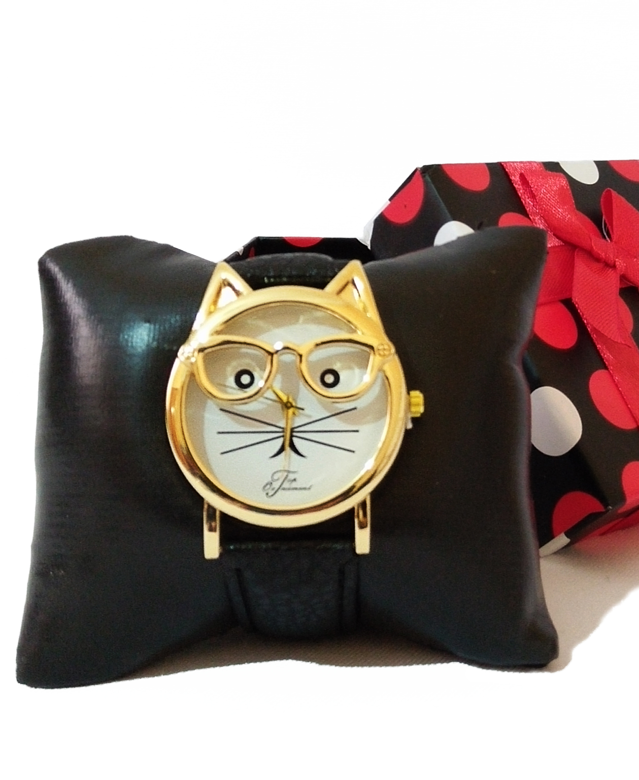 Montre Top Ornament Black Cat pour femme
