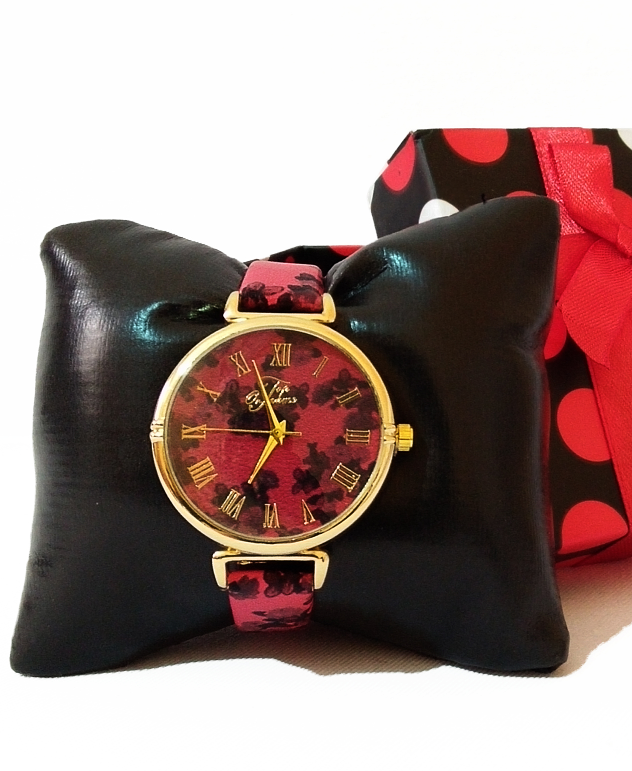 Montre Top Ornament Red Flower Nature pour femme
