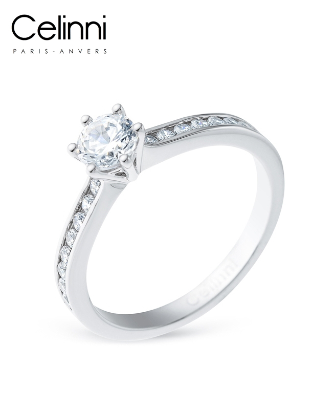 Bague Solitaire Diamant MON TRESOR Or Blanc 0.85 Carat