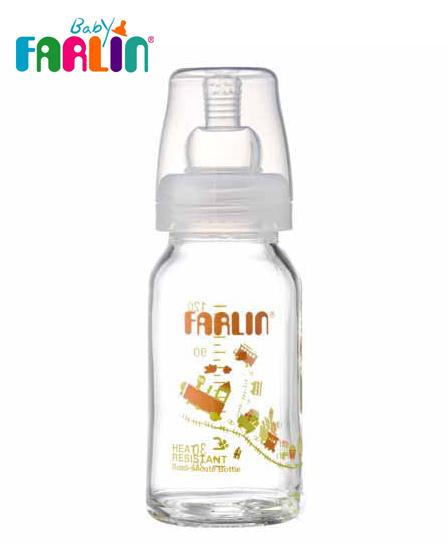 Farlin Biberon en verre Boro-Cilicate PM 120 ml