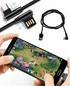 Cable Codi Solide pour IPhone et Android câble à angle de 90 degrés