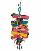 Jouet oiseau et perroquet frisko multicolore 25cm - Vadigrand
