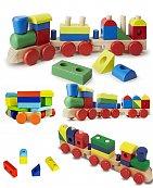 Jouets Educatif Train de formes en bois - Montessori