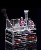 Boîte de rangement maquillage transparente