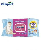 Lingette Humide Ultra Compact Angel Baby - 120 pièces