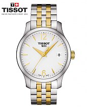 Montre TISSOT TRADITION LADY or jaune