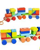 Train de formes en bois - Jouets Montessori