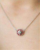 Collier Étoile du Sud Rouge en argent Certifié 925 pour femme