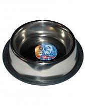 Gamelle Mangeoire Inox Antidérapante en caoutchouc 2,8 L ( 25 - 33,5 cm) pour chien
