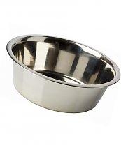 Gamelle Mangeoire Inox Plat 1,80 L 21 cm - pour chien