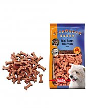 Snack chien biscuits Mini Bones Saumon 200g - Nobby