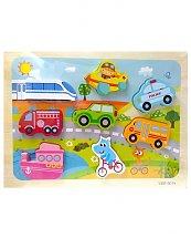 Puzzle véhicules à encastrer pour enfants
