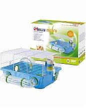 Cage hamster billy metro blanc et bleu 42x38x23cm - Vadigran