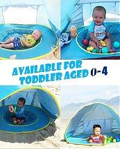 Tente de plage avec une protection solaire optimale pour votre bébé