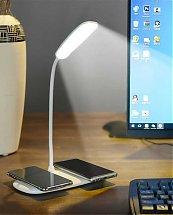 Lampe de table Design Led avec Charge sans fil pour deux téléphones
