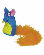 Jouet Souris colorée avec plumes et herbe à chat - Nobby