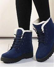 Bottes d'hiver Blue Snow Fashion pour femme