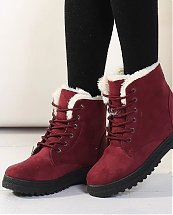 Bottes d'hiver Red Snow Fashion pour femme