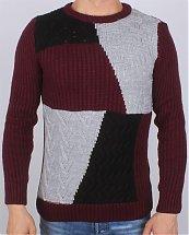 Pull en laine Tricot Fort Mosaique R.G.N Turk - Ce & Ce Fashion