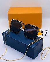 Lunettes solaires pour femme fashion LV Bleu avec boite