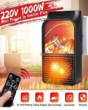 Mini Chauffage Effet Flamme Portable avec télécommande
