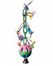 Jouet Grande Perruche et Perroquet Speelgoed vogel plastic ketting+bal+bel 56cm - Vadigran