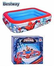 Piscine gonflable décor Ultimate Spider Man 2 boudins 2,01m x 1,50m x 51 cm - Bestway