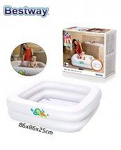 Baignoire gonflable carrée pour bébé Fluo 86 x 86 x 25 cm - Bestway