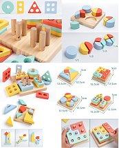 Jouet éducatif Coffret de Géométrie en bois - Montessori