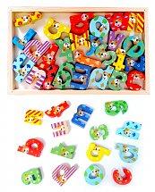 Jouet Alphabet éducatif et décoratif en bois coloré - Montessori