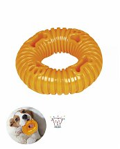 Jouet dentaire chien TPR Ring Orange 10 cm - Nobby
