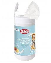 Lingettes de nettoyage multi-usages pour chiens, chats et petits animaux 50 pcs - Nobby