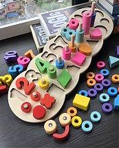Jeux éducatif Logarithmique 3 en 1 - Montessori