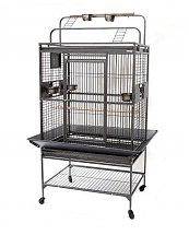 Grande cage pour perroquet - Gris martelé